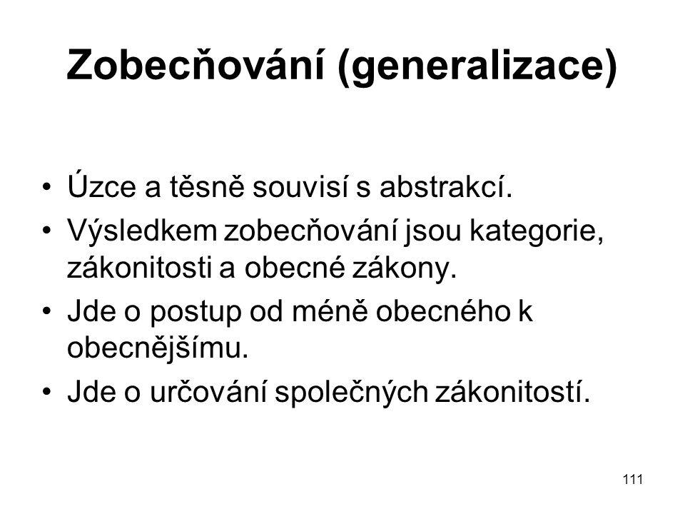 Zobecňování (generalizace)