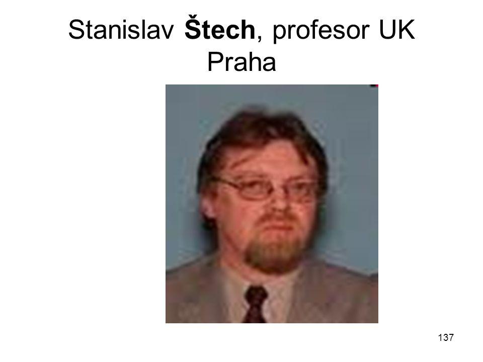 Stanislav Štech, profesor UK Praha