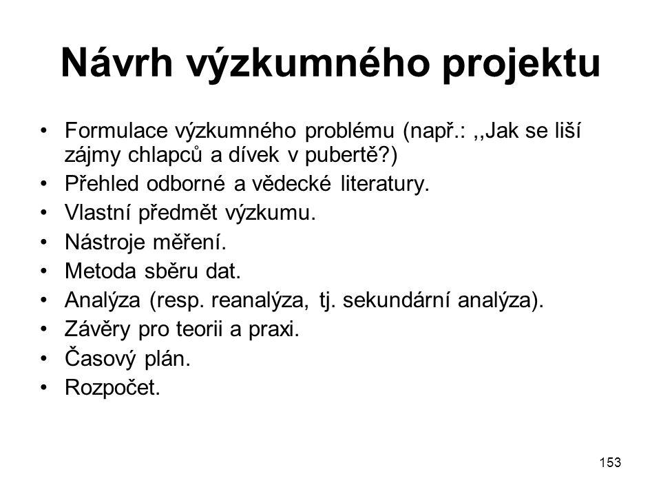 Návrh výzkumného projektu