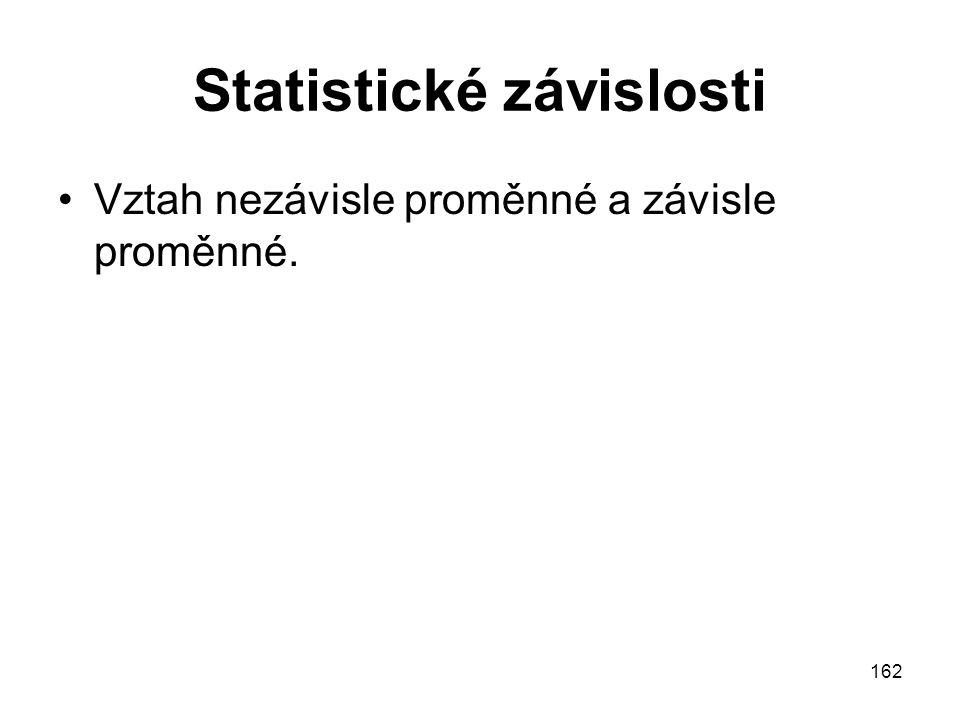 Statistické závislosti