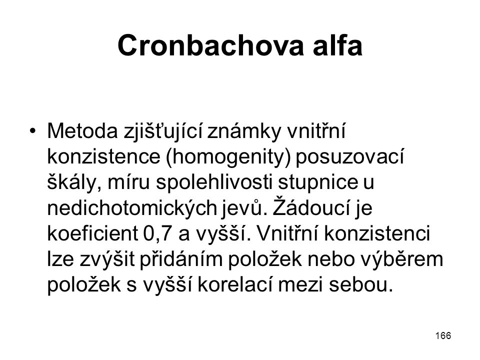 Cronbachova alfa