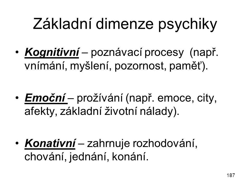 Základní dimenze psychiky