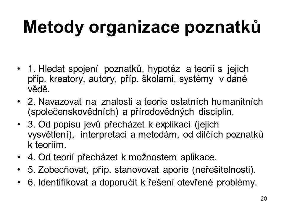 Metody organizace poznatků