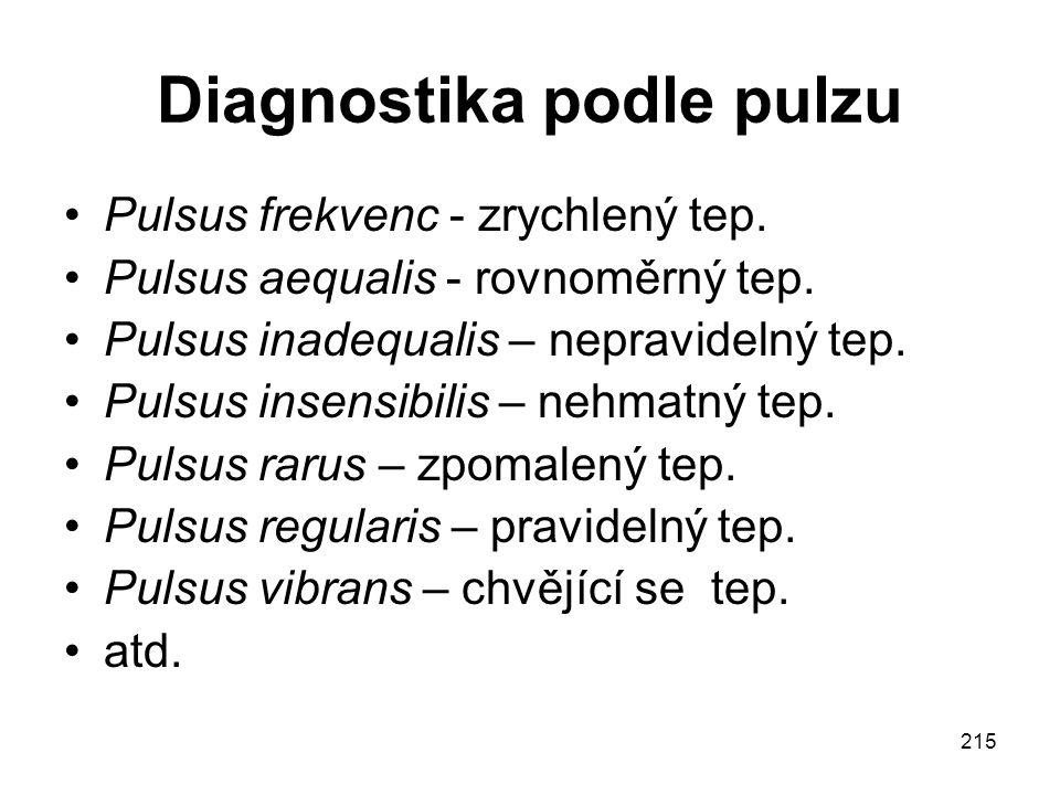 Diagnostika podle pulzu