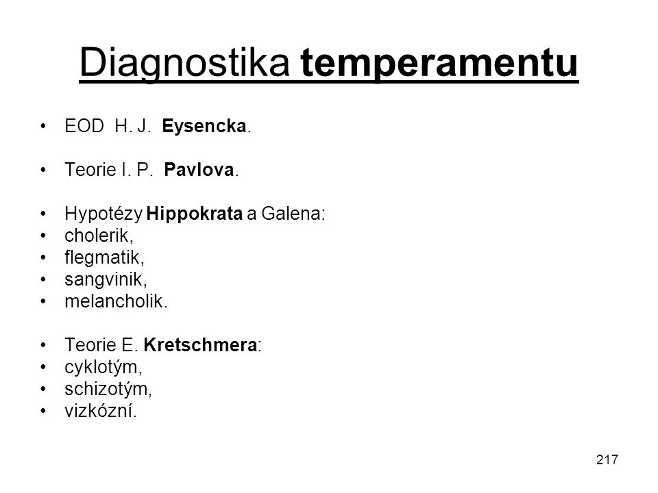 Diagnostika temperamentu