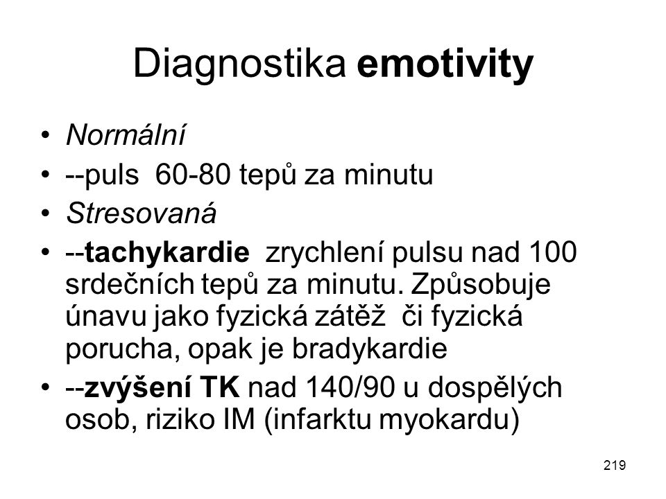 Diagnostika emotivity