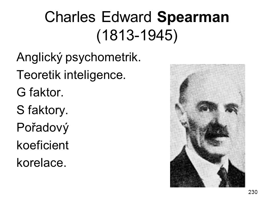 Charles Edward Spearman (1813-1945)