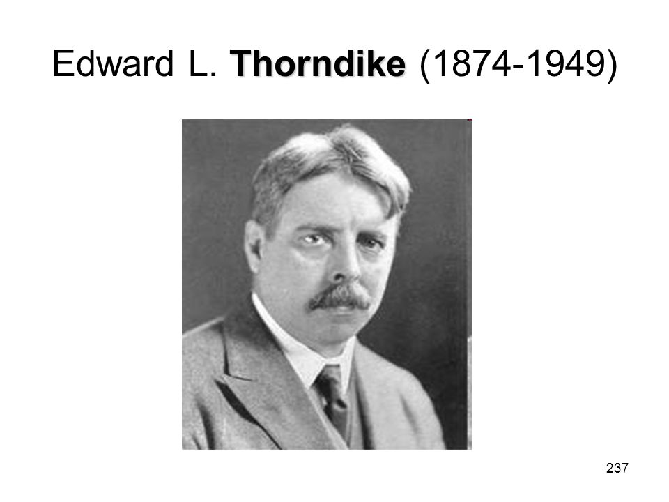 Edward L. Thorndike (1874-1949)