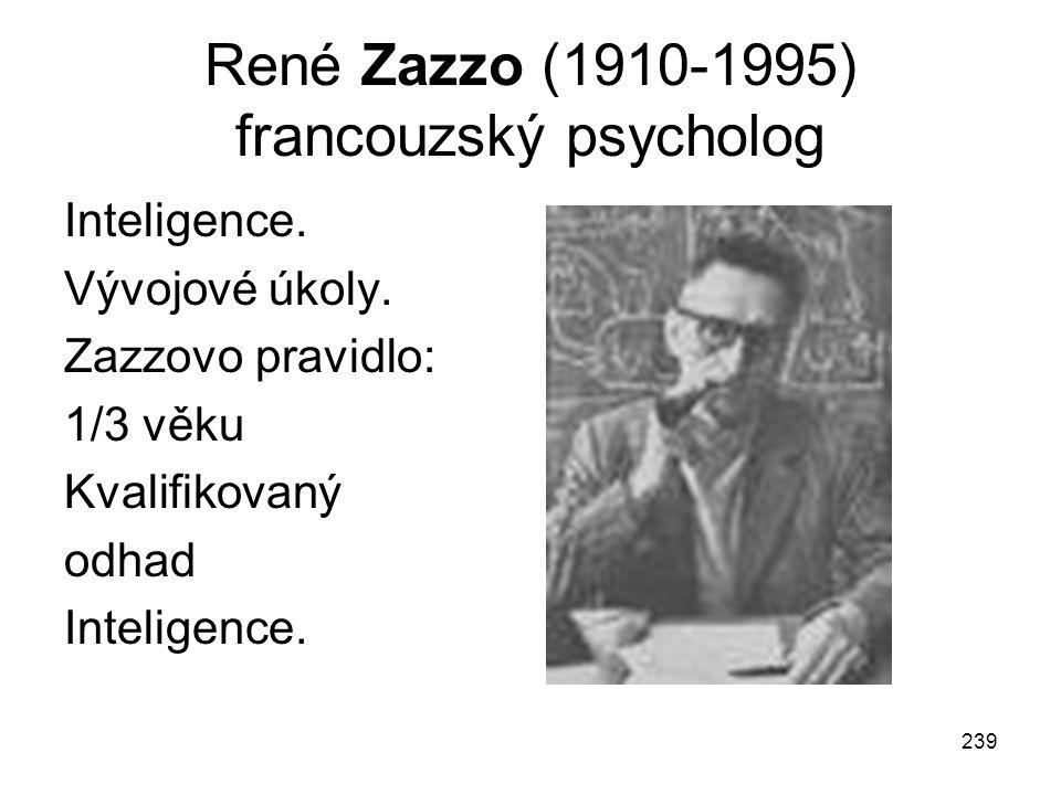 René Zazzo (1910-1995) francouzský psycholog