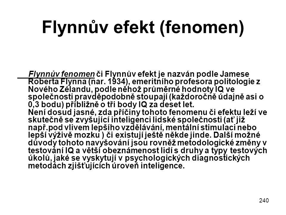 Flynnův efekt (fenomen)