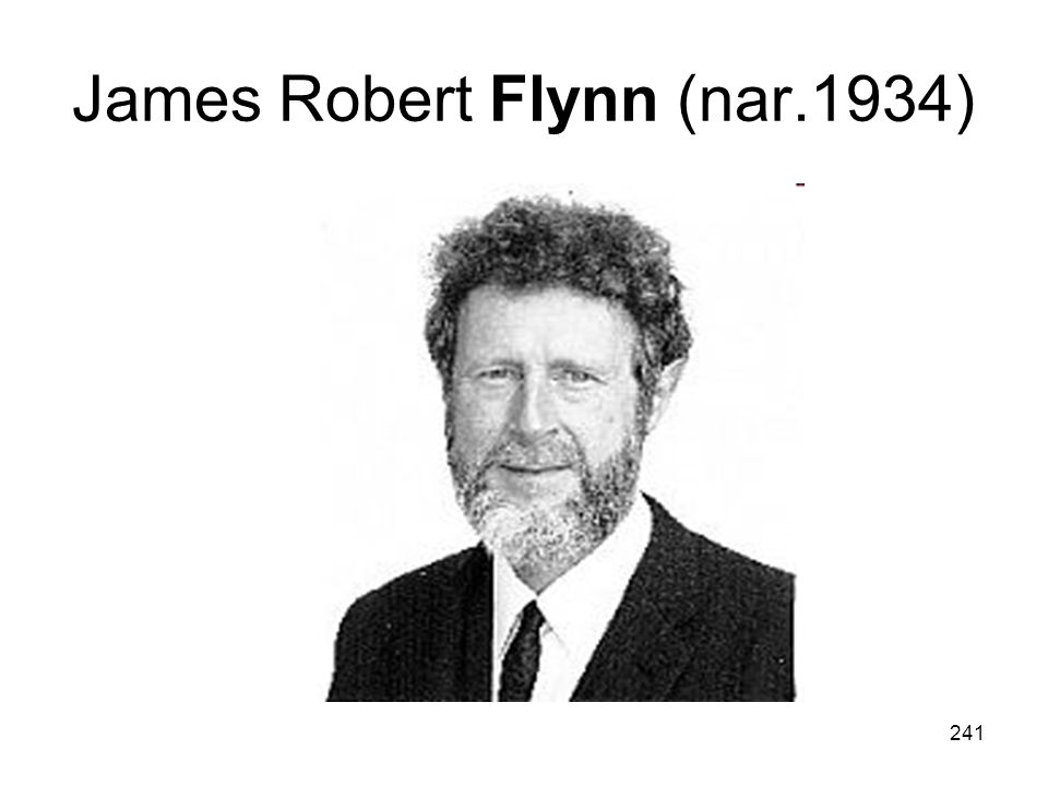James Robert Flynn (nar.1934)