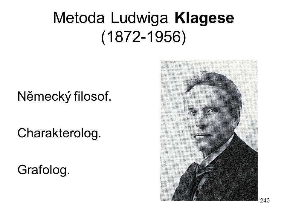 Metoda Ludwiga Klagese (1872-1956)