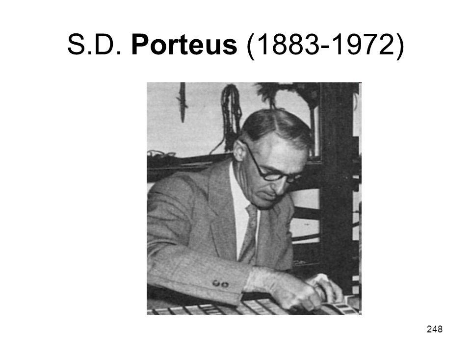 S.D. Porteus (1883-1972)