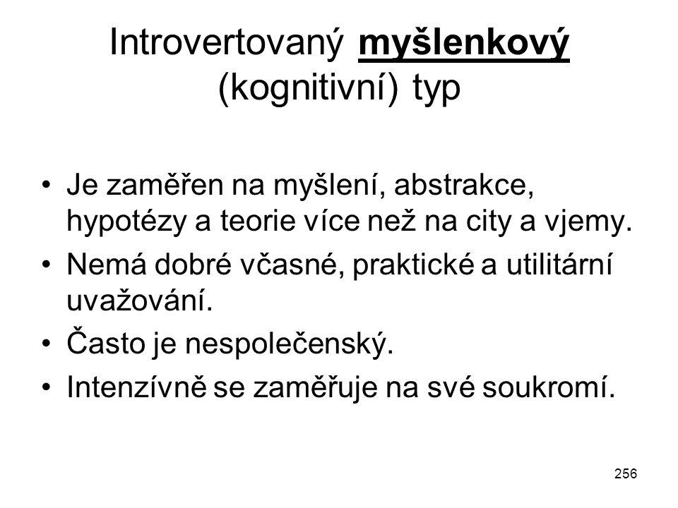 Introvertovaný myšlenkový (kognitivní) typ