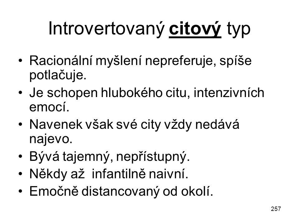 Introvertovaný citový typ