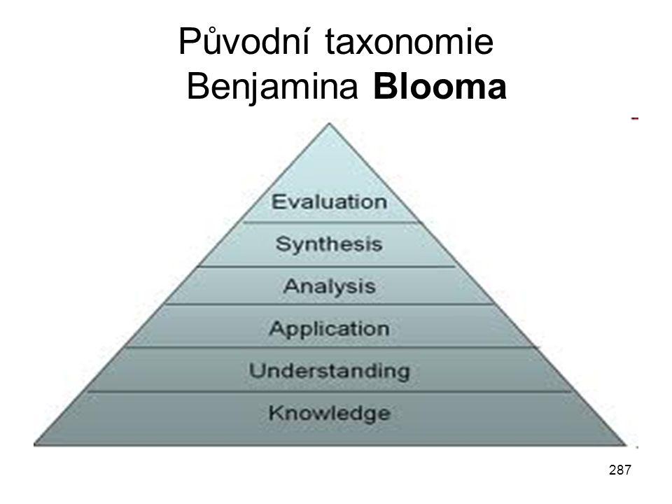 Původní taxonomie Benjamina Blooma