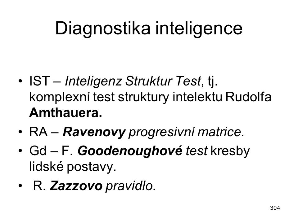 Diagnostika inteligence