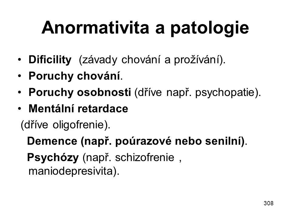 Anormativita a patologie