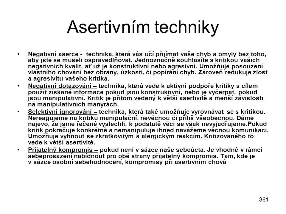 Asertivním techniky