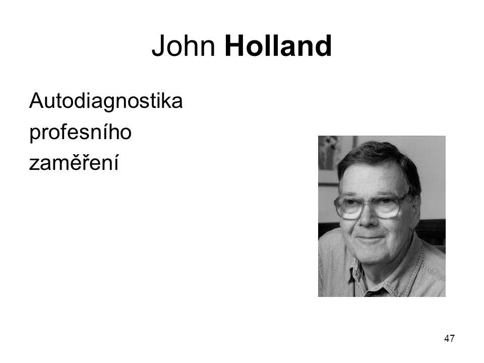 John Holland Autodiagnostika profesního zaměření