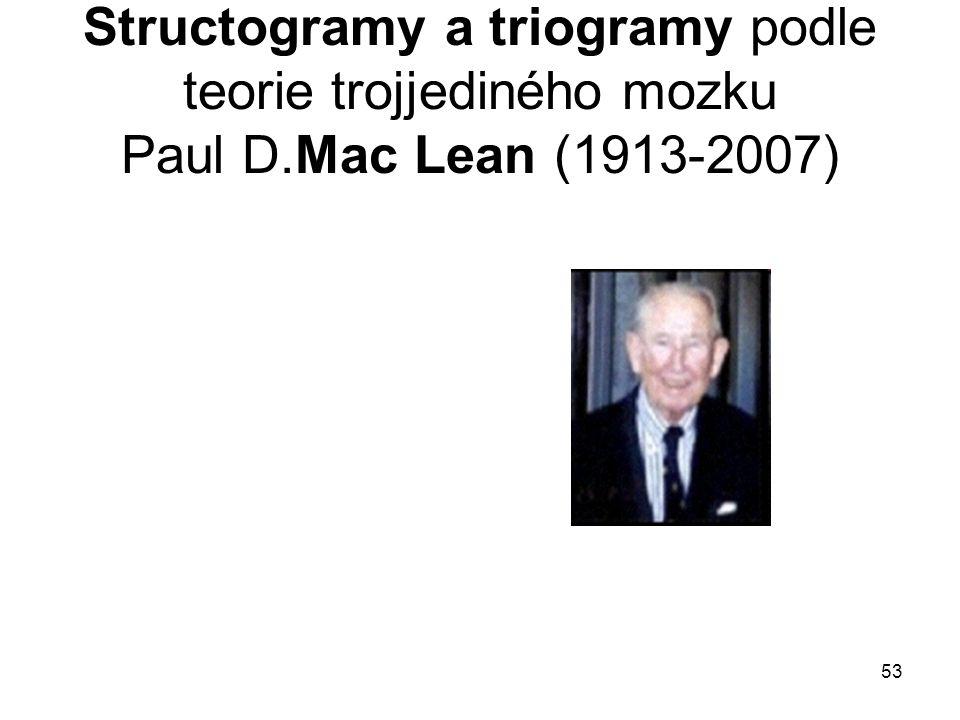 Structogramy a triogramy podle teorie trojjediného mozku Paul D
