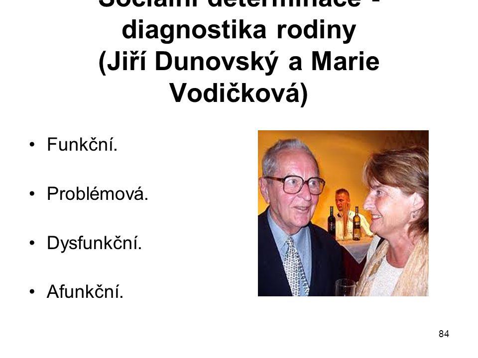 Sociální determinace -diagnostika rodiny (Jiří Dunovský a Marie Vodičková)