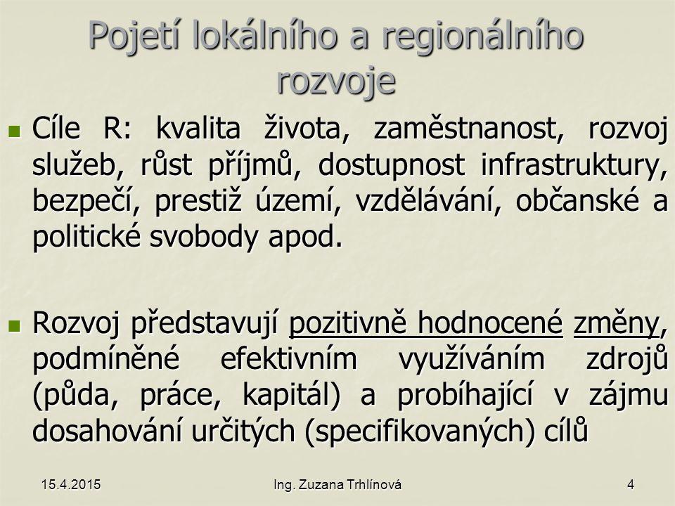 Pojetí lokálního a regionálního rozvoje