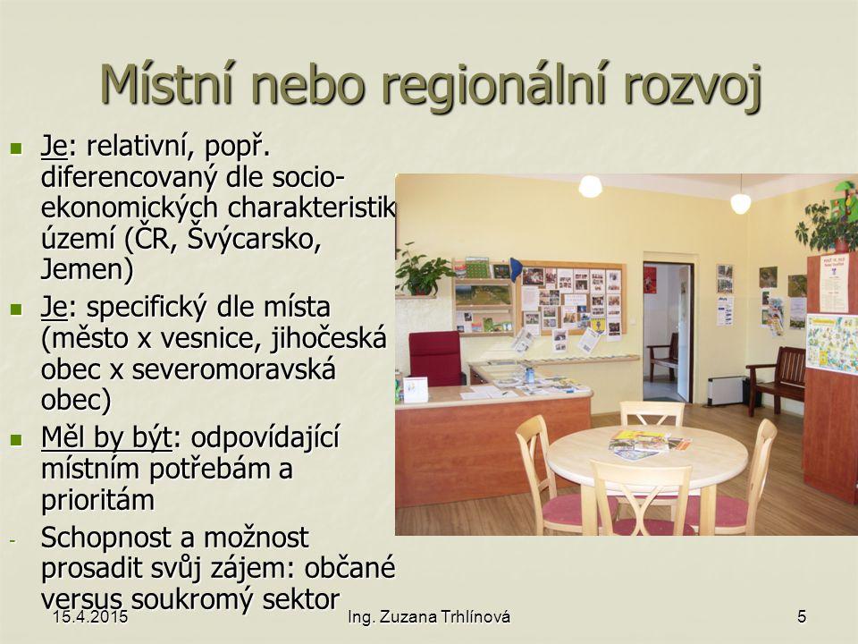 Místní nebo regionální rozvoj