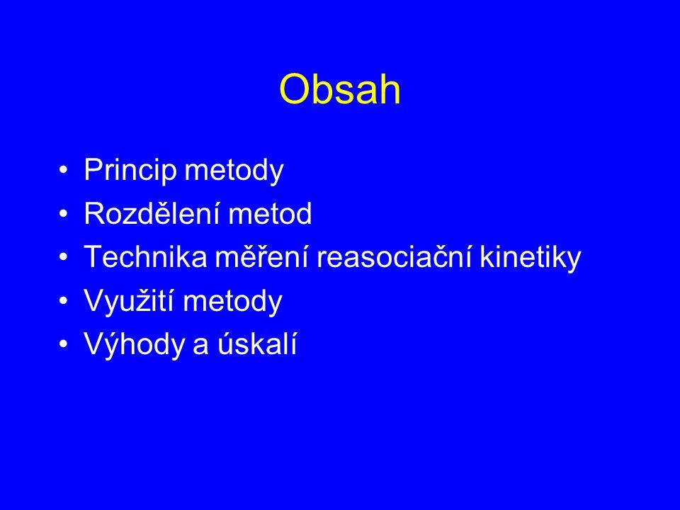 Obsah Princip metody Rozdělení metod
