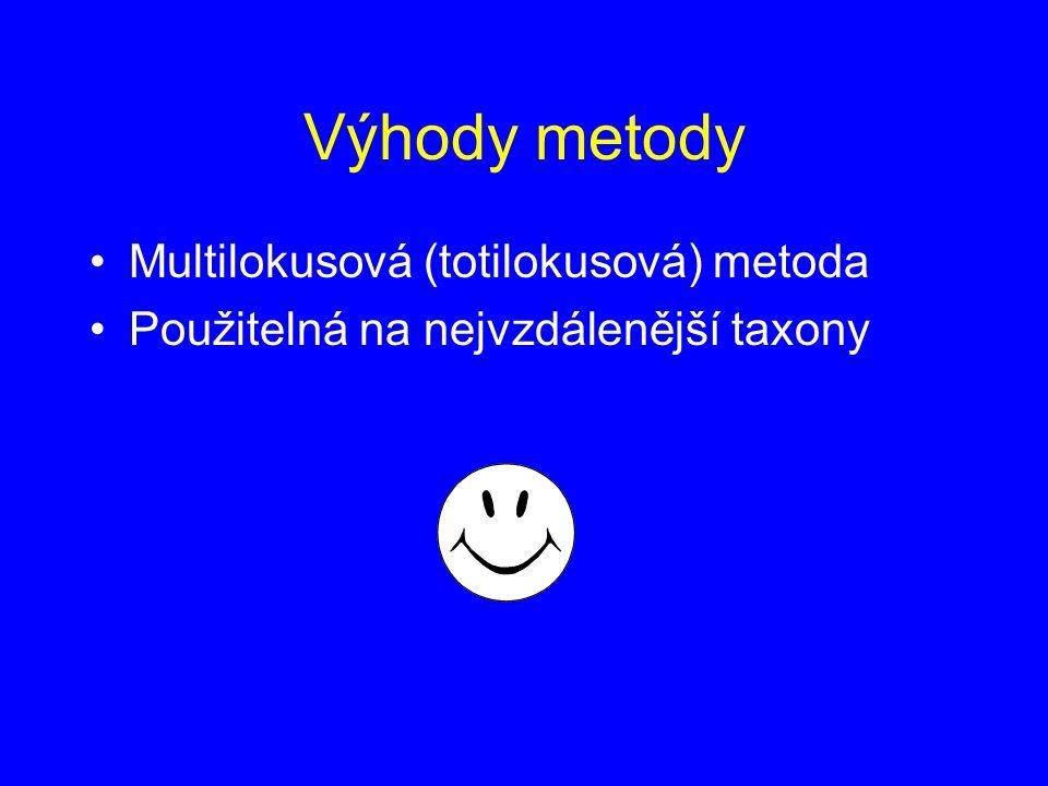 Výhody metody Multilokusová (totilokusová) metoda