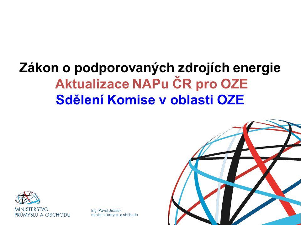 Zákon o podporovaných zdrojích energie Aktualizace NAPu ČR pro OZE Sdělení Komise v oblasti OZE