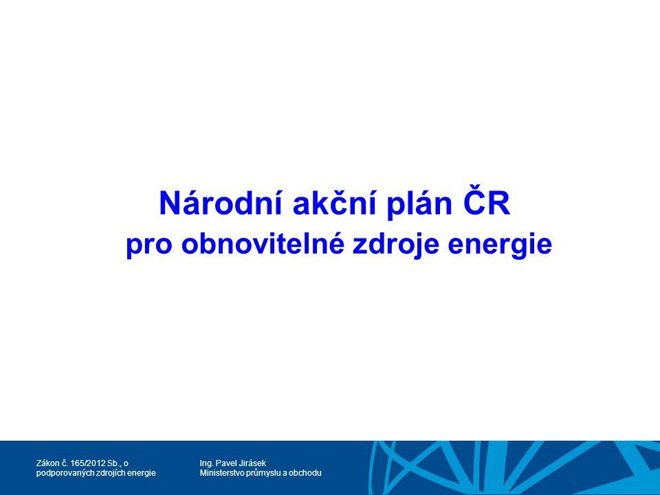 Národní akční plán ČR pro obnovitelné zdroje energie