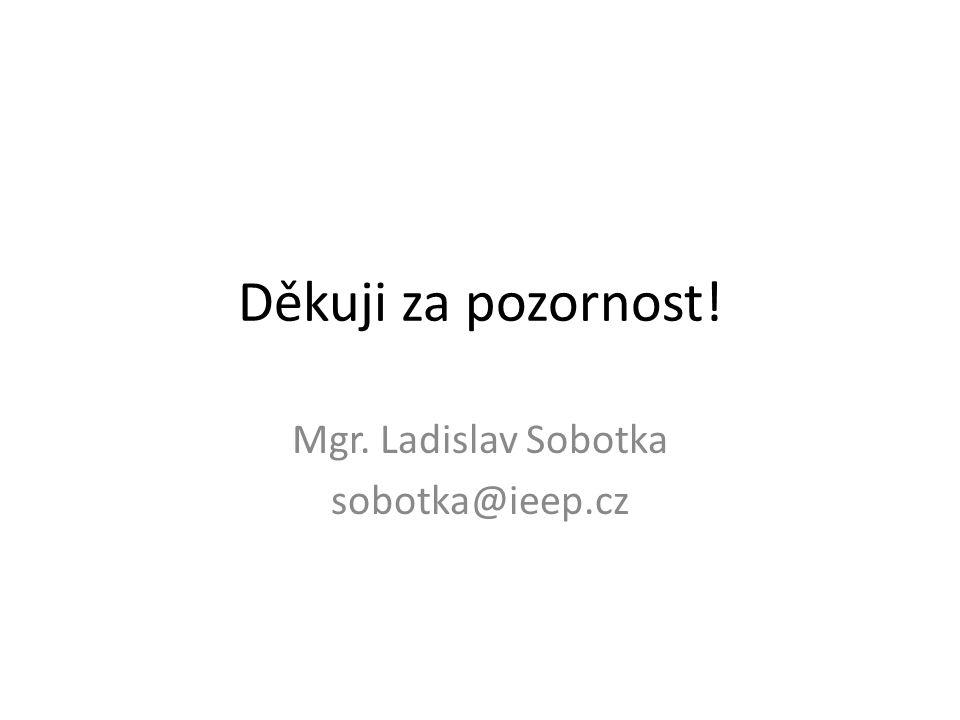 Mgr. Ladislav Sobotka sobotka@ieep.cz