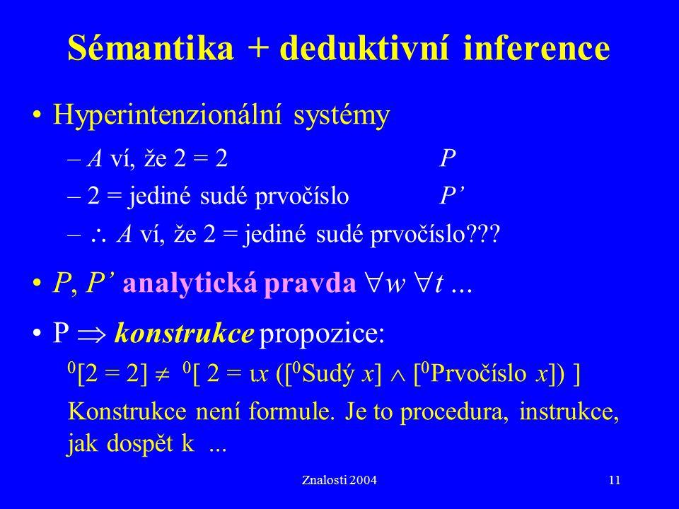 Sémantika + deduktivní inference