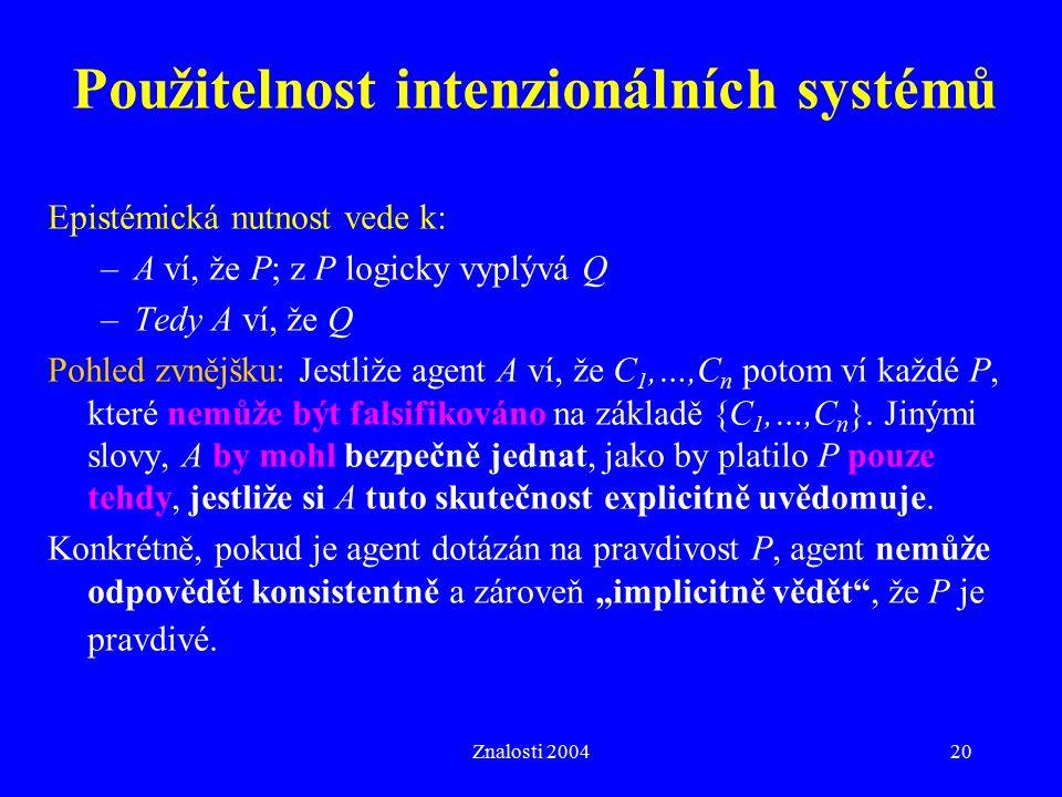 Použitelnost intenzionálních systémů