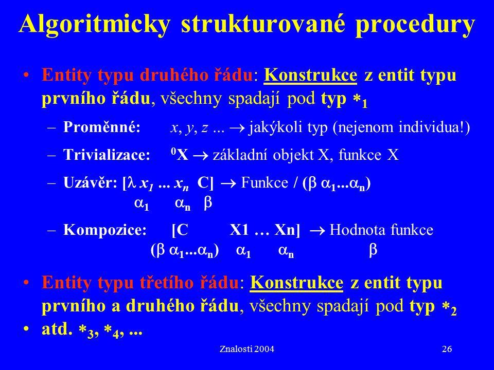 Algoritmicky strukturované procedury