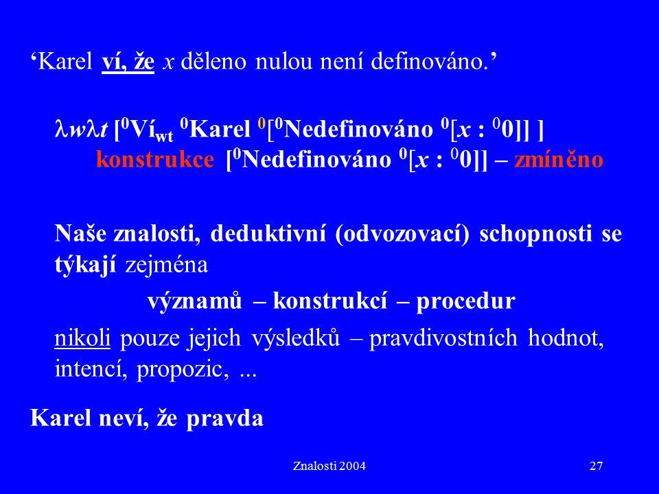 významů – konstrukcí – procedur