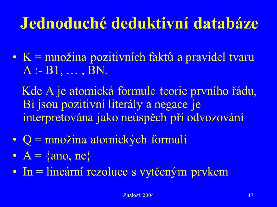 Jednoduché deduktivní databáze