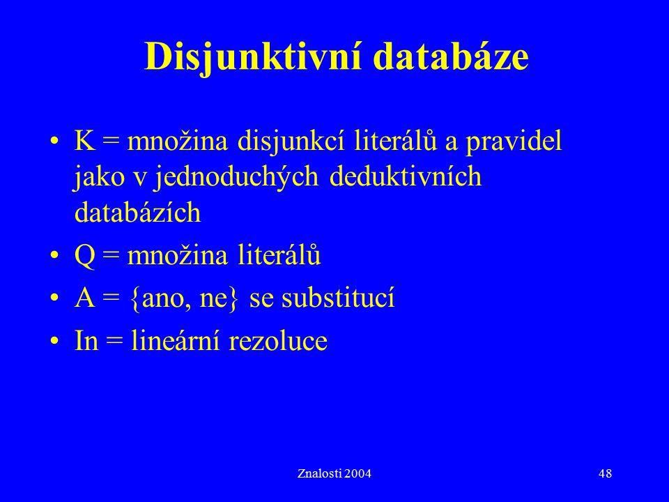 Disjunktivní databáze