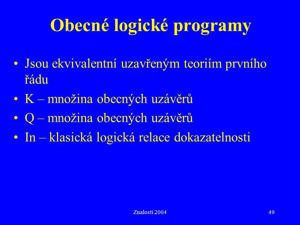 Obecné logické programy