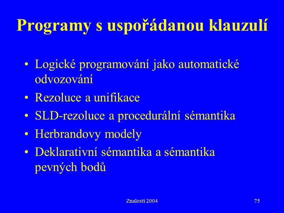Programy s uspořádanou klauzulí
