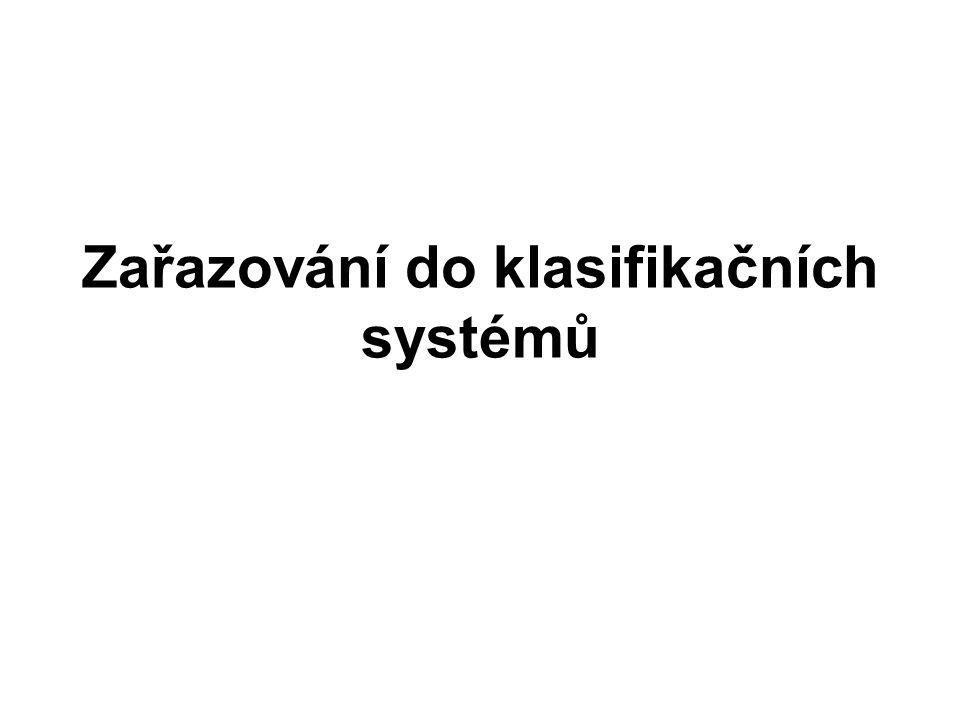 Zařazování do klasifikačních systémů