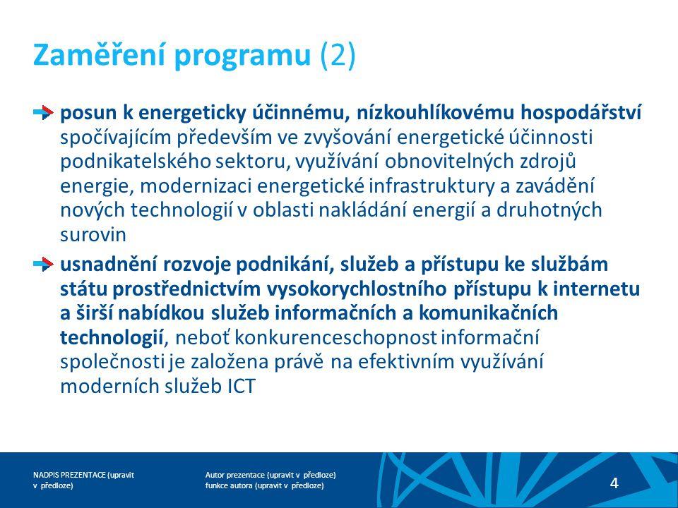 Zaměření programu (2)