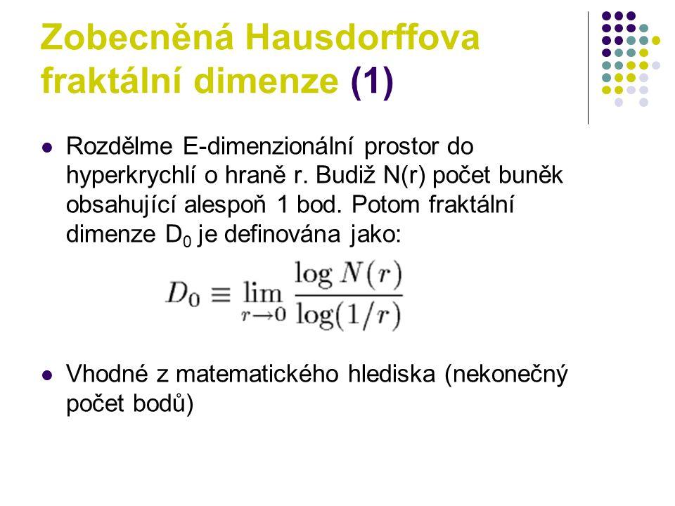 Zobecněná Hausdorffova fraktální dimenze (1)