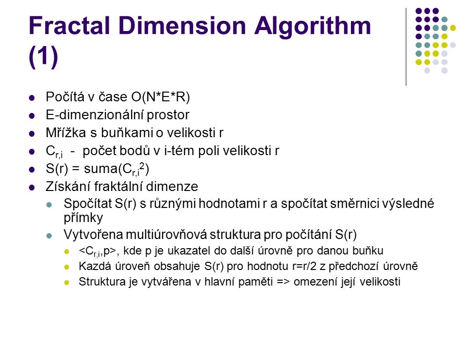 Fractal Dimension Algorithm (1)