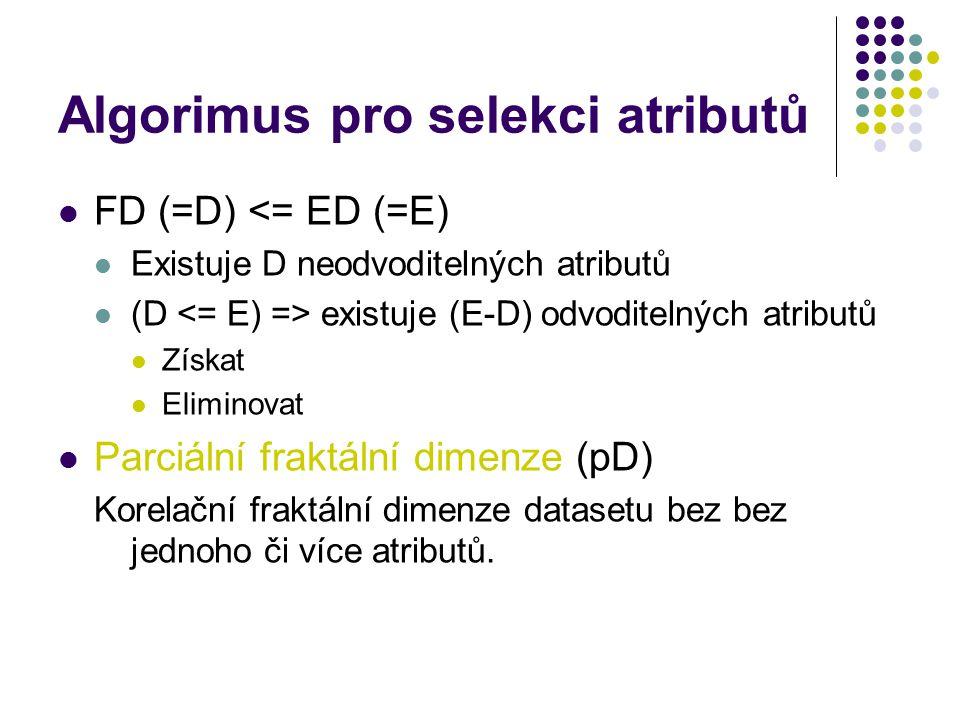 Algorimus pro selekci atributů