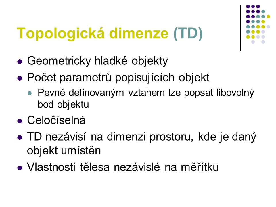 Topologická dimenze (TD)