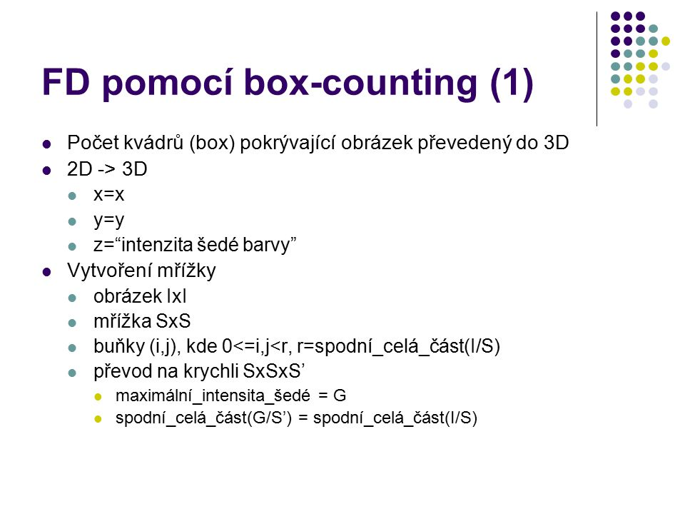 FD pomocí box-counting (1)