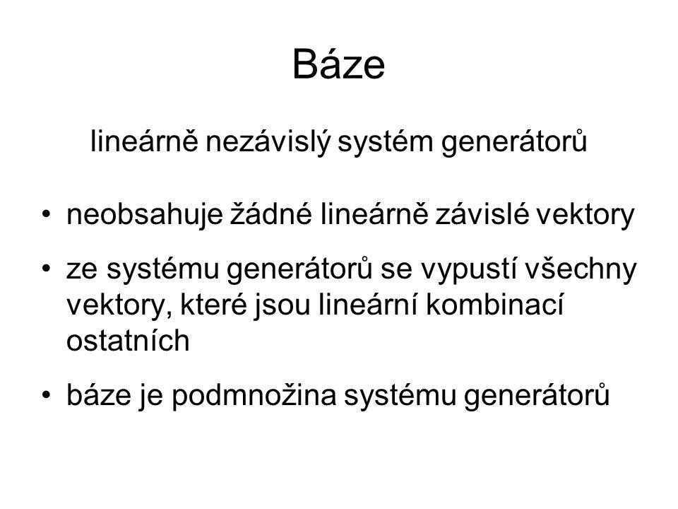 lineárně nezávislý systém generátorů
