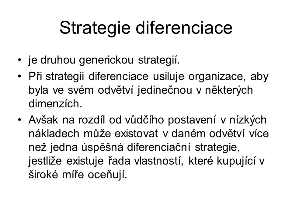 Strategie diferenciace